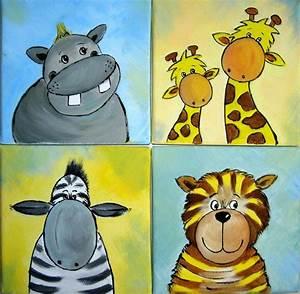 Tierbilder Für Kinderzimmer : 4 tierbilder dschungel giraffe tiger safari afrika wasserfarben pinterest dschungel ~ Sanjose-hotels-ca.com Haus und Dekorationen