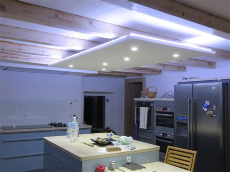 electricite cuisine led ruban decoratif downlight eclairage led cuisine salon