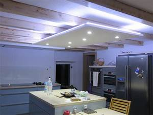 Eclairage Salon Led : led ruban decoratif downlight eclairage led cuisine salon ~ Zukunftsfamilie.com Idées de Décoration