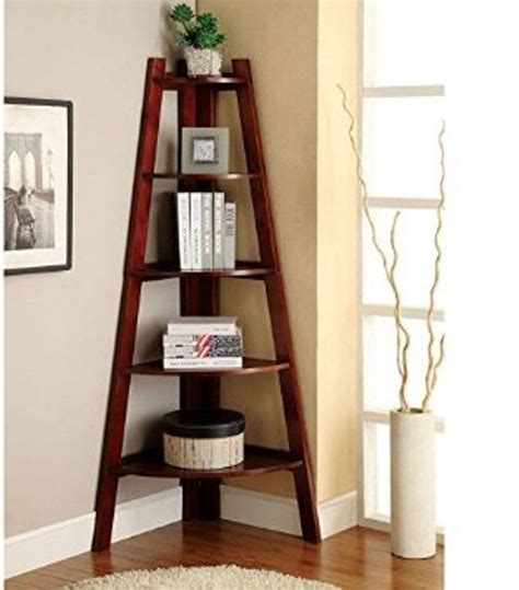 corner display shelf corner shelf stand wood 5 shelves display storage