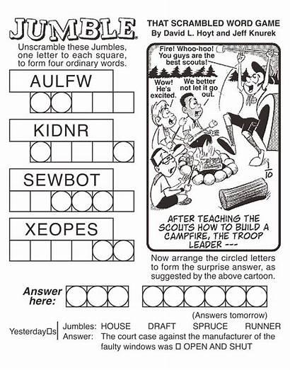 Jumble Puzzles Word Printable Coping Printablee