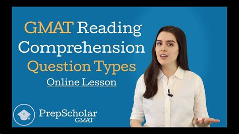 Online Lesson Gmat Reading Comprehension Question Types Youtube