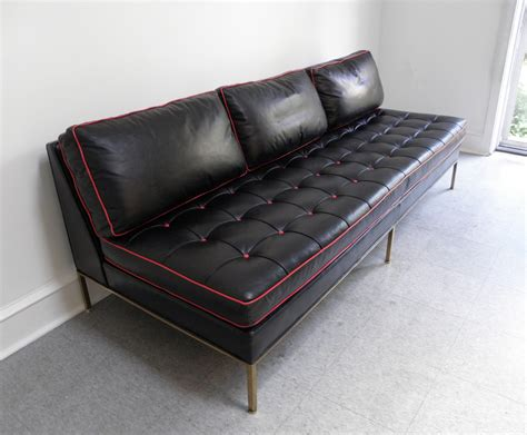 mid century modern sofa bed harvey probber mid century modern brass and leather day