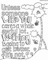 Seuss Coloring Dr Pages Earth Quote Lorax Printable Sheets Books Dynu Worksheets sketch template