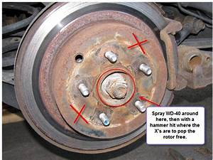 I Am Trying The Replace The Front Rotors  I Am Assuming I