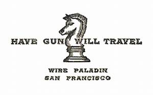 Have gun will travel wikipedia for Have gun will travel business card