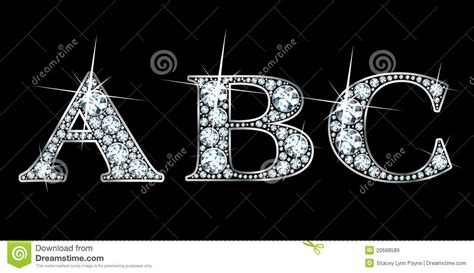 diamond abc stock vector illustration  elegant monogram