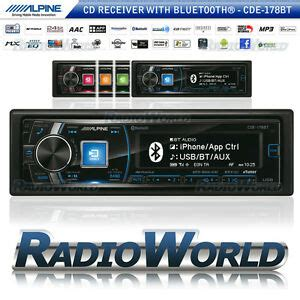 alpine cde 178bt alpine cde 178bt car stereo headunit radio bluetooth cd fm am usb mp3 aux ipod ebay