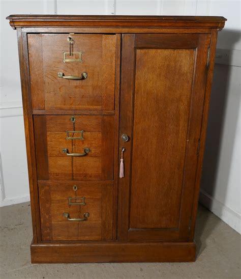 oak file cabinet large edwardian oak filing cabinet office cupboard