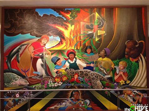 denver international airport bunker are the murals a