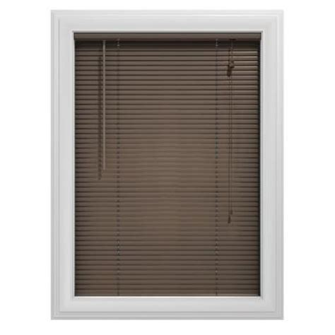 home depot mini blinds bali today char brown 1 in aluminum mini blind