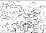 Coloring Rushmore Mount sketch template