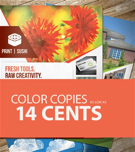 color copies as low as 14