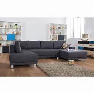 Canapé 6 Places Convertible : duval canap convertible tissu 5 places 317x194x78 cm ~ Teatrodelosmanantiales.com Idées de Décoration