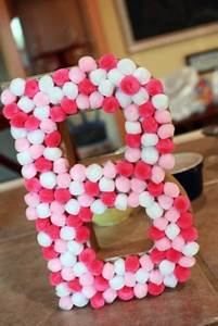 simply extraordinary diy letter decor here to enhance the With pom pom letters
