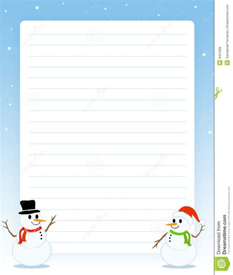 christmas border note paper royalty  stock image image