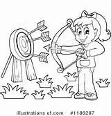 Archery Clipart Illustration Royalty Visekart Rf sketch template