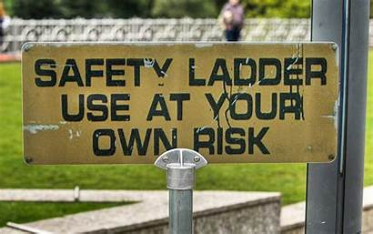 Funny Signs Sign Ladder Around Safety Lmao
