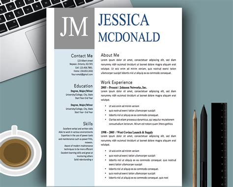 free creative resume templates word modern template pdf