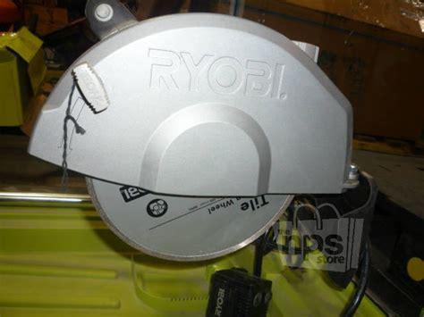 ryobi ws750l portable wet tile saw 7 quot 1 3 4 hp 120 volt