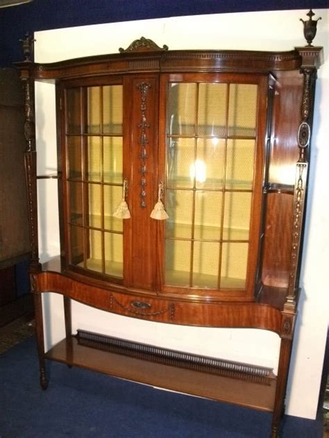 where to put glass cabinets in a kitchen stunning mahogany display cabinet antiques atlas 2258