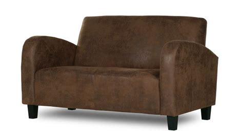 canape cuir vieilli vintage canapé 2 places microfibre aspect cuir vieilli wigam