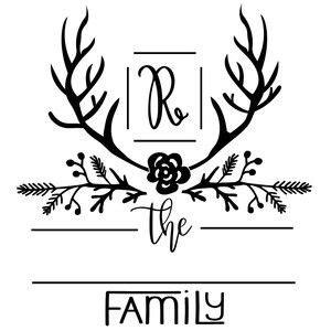monogram family  frame cricut monogram monogram signs circle doodles