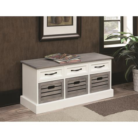 Bench Cabinet Storage by Coaster Benches 501196 Storage Bench Cabinet Lapeer
