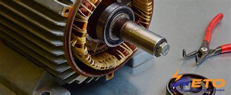 Electric Motor Maintenance by Maintenance Bearings On Ship Electric Motor Electro