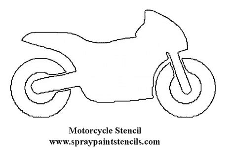 motorbike template for cake free transportation stencils