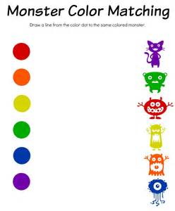 Free Printable Color Matching Worksheets
