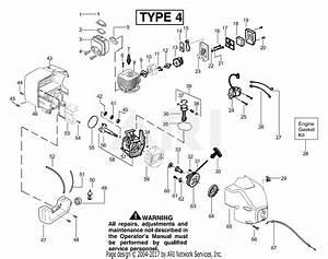 Poulan Te450cxl Le Gas Trimmer Type 4 Parts Diagram For Engine Type 4