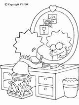 Coloring Lisa Simpson Simpsons Drawing Cool sketch template