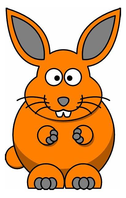 Cartoon Bunny Clker Clip Clipart Svg Domain