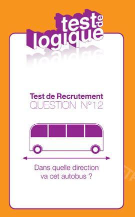 test de recrutement n 176 12 la r 233 ponse pour l autobus elaee elaee
