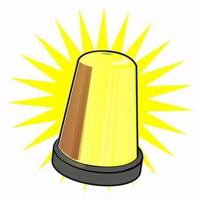 Clipart Warning Yellow Lamp Signal Clip Scenery