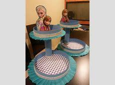 Centros de mesa cumpleaños Frozen Ana y Elsa bandejas