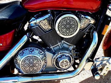 Engraved Motorcycle Engine!! (engraving By Otto Carter
