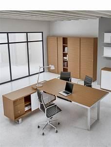Bureau Avec Rangement : bureau de direction avec cr dence de rangement archimede alea office ~ Teatrodelosmanantiales.com Idées de Décoration