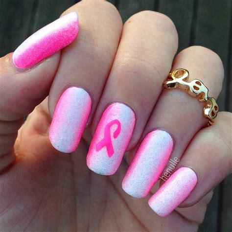 breast cancer nail designs pink breast cancer awareness nails nail by henulle