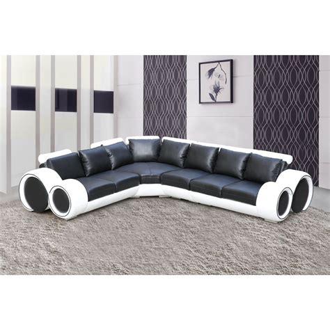 canap d angle cuir blanc design salon canape dangle noir et blanc comforium