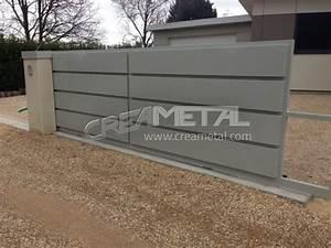 Portail En Aluminium : etude et fabrication portail en aluminium creametal ~ Melissatoandfro.com Idées de Décoration