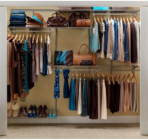 Closet Organization Kit by Shelftrack 5 8 Ft Nickel Closet Organizer Kit Wardrobe