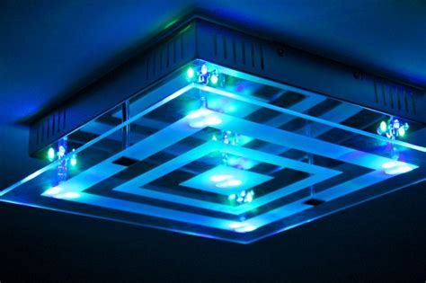 led rgb ceiling light with colour changing mode and remote