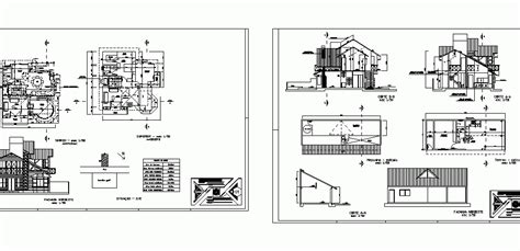 detached house dwg block  autocad designs cad