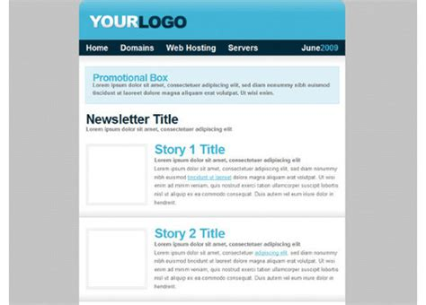 html newsletter templates noupe