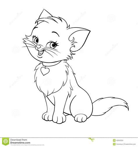 vector cartoon fun cute kitten  art stock vector