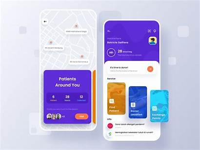 Blood Donors App Dribbble Card