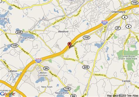 map of westford regency inn and conference center westford