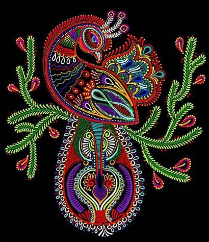 Folk Ethnic Peacock Bird Artist Contemporary Movement